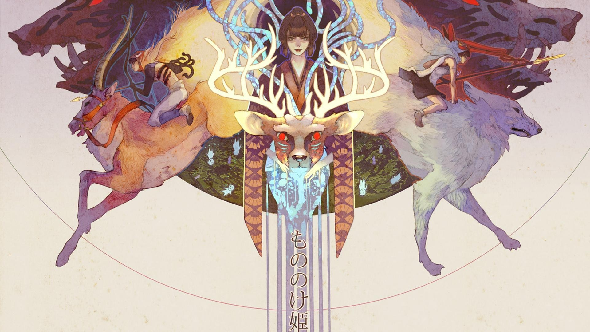 Princess Mononoke, Deer, Anime, Artwork Wallpapers HD / Desktop and Mobile  Backgrounds