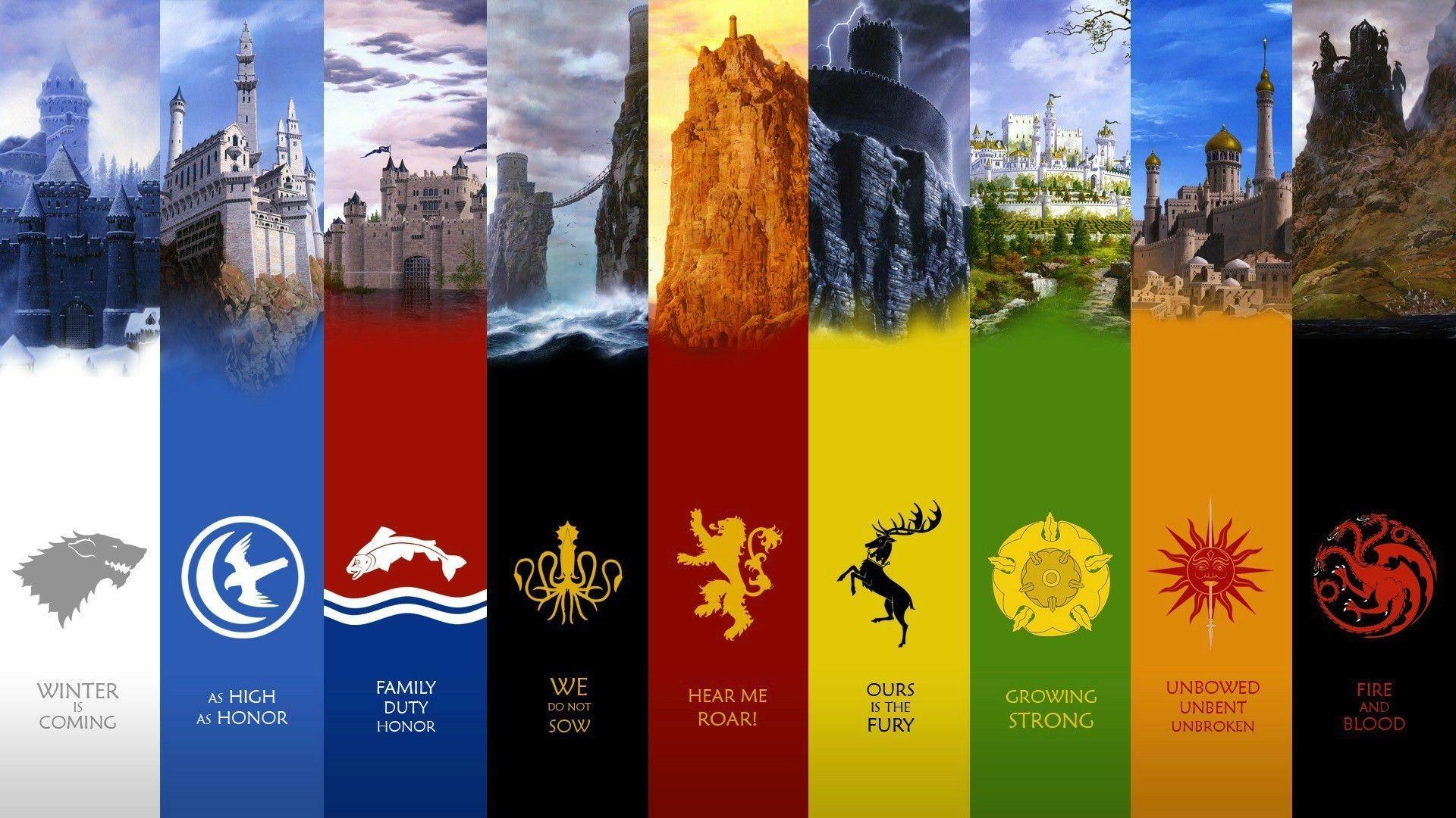 game of thrones season all houses wallpaper