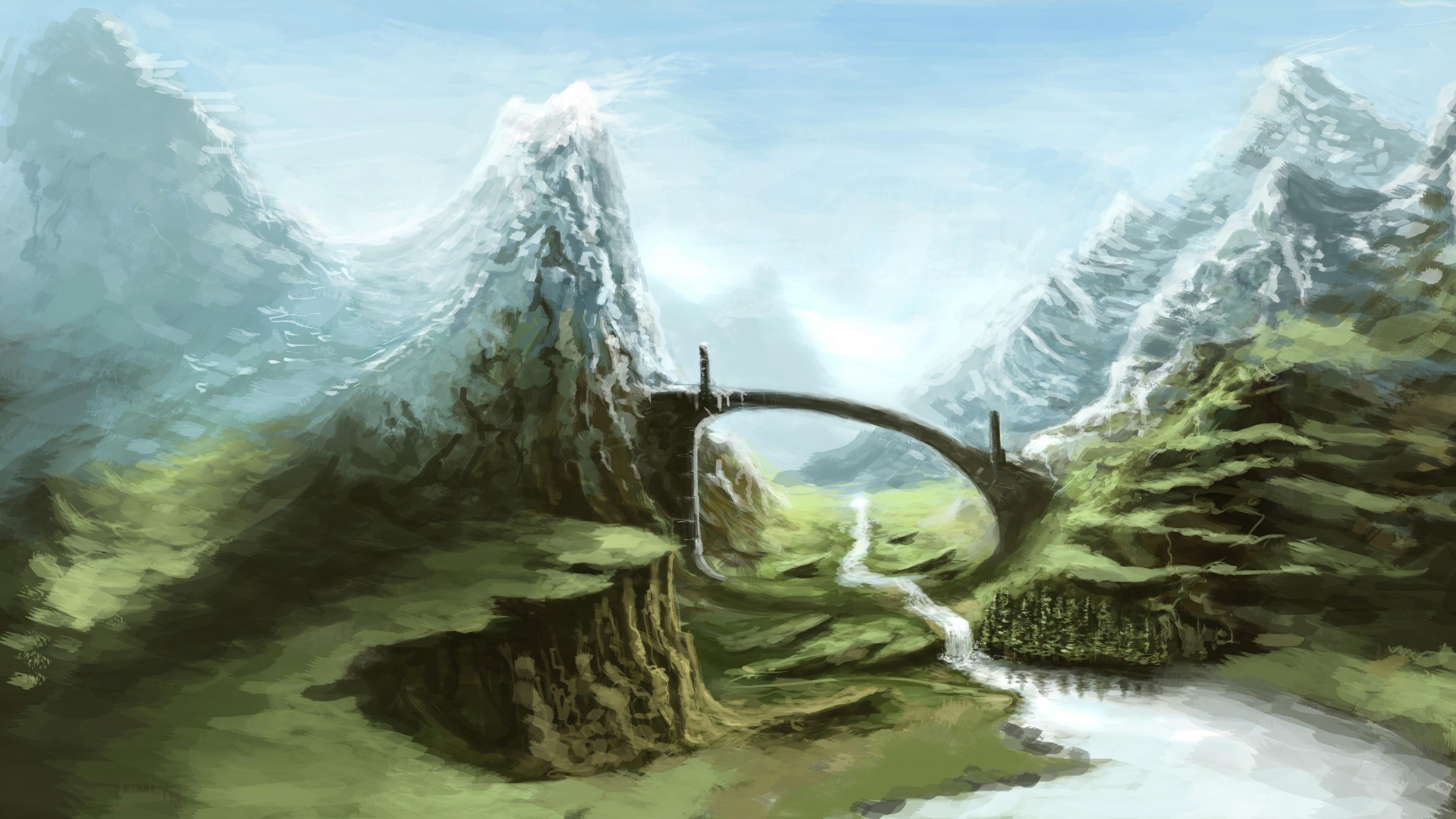 Preview wallpaper skyrim, nature, art 3840×2160