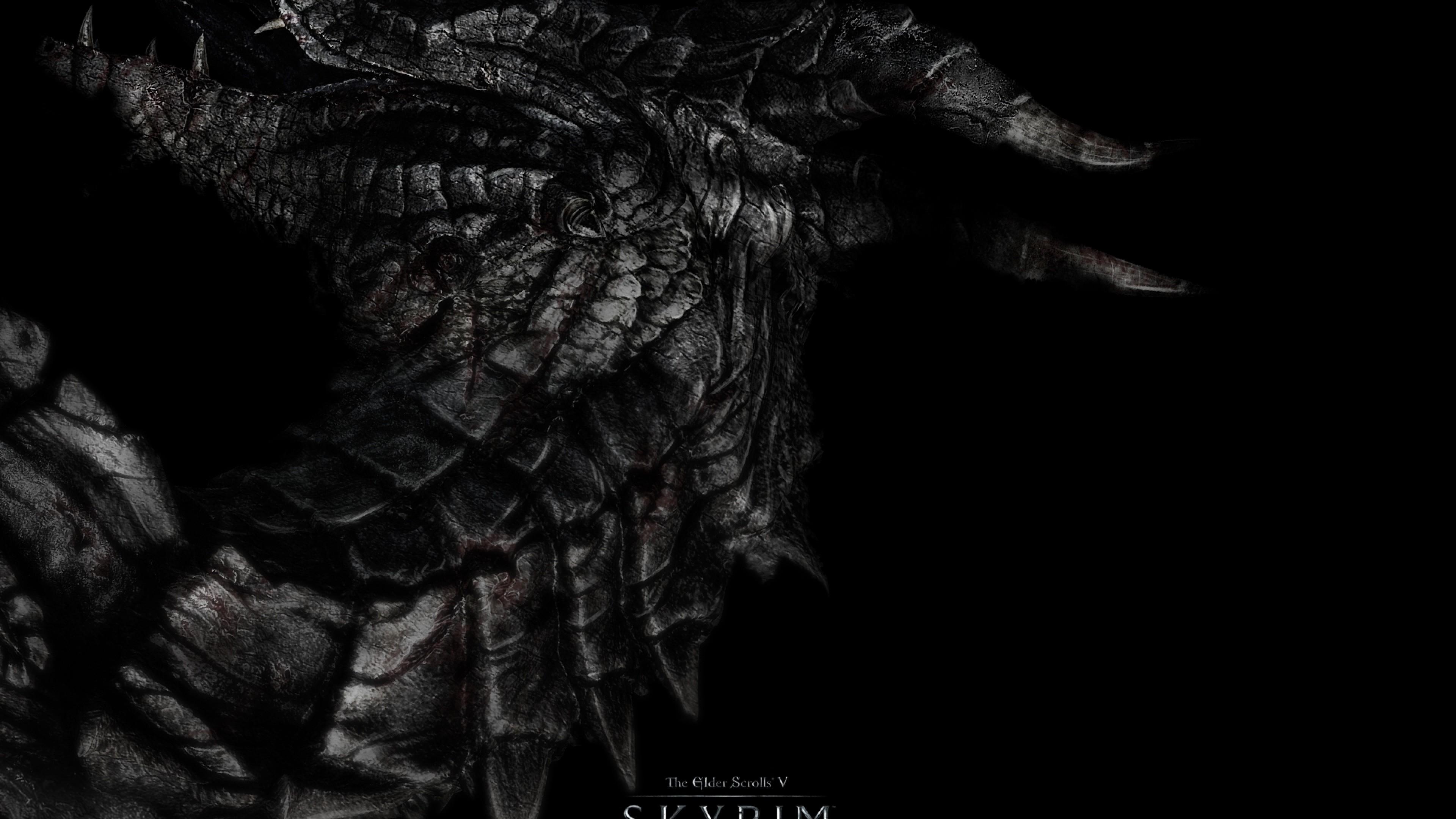 Wallpaper dragon, skyrim, the elder scrolls v skyrim