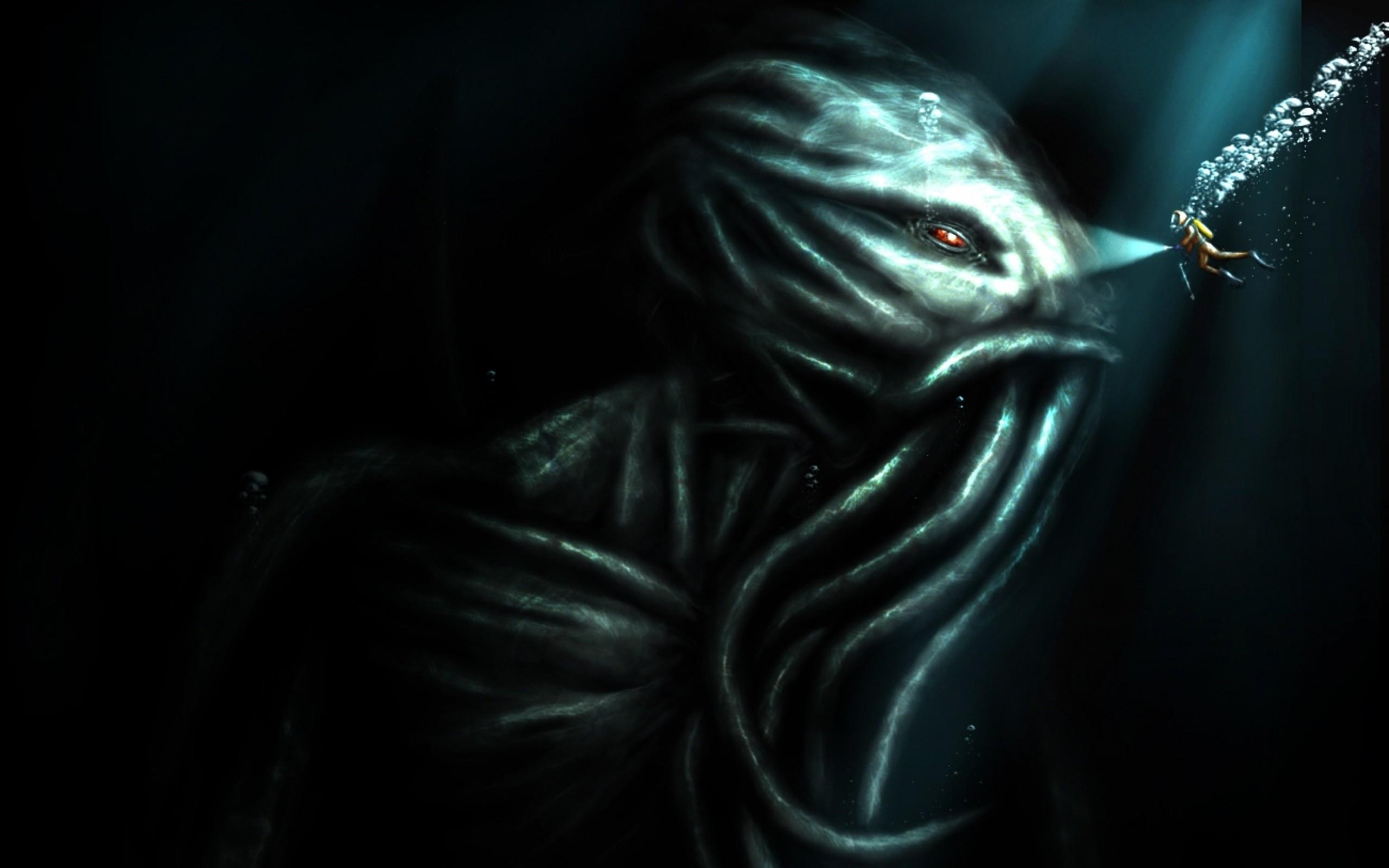 horror cthulhu scuba diving 1302×1021 wallpaper Art HD Wallpaper