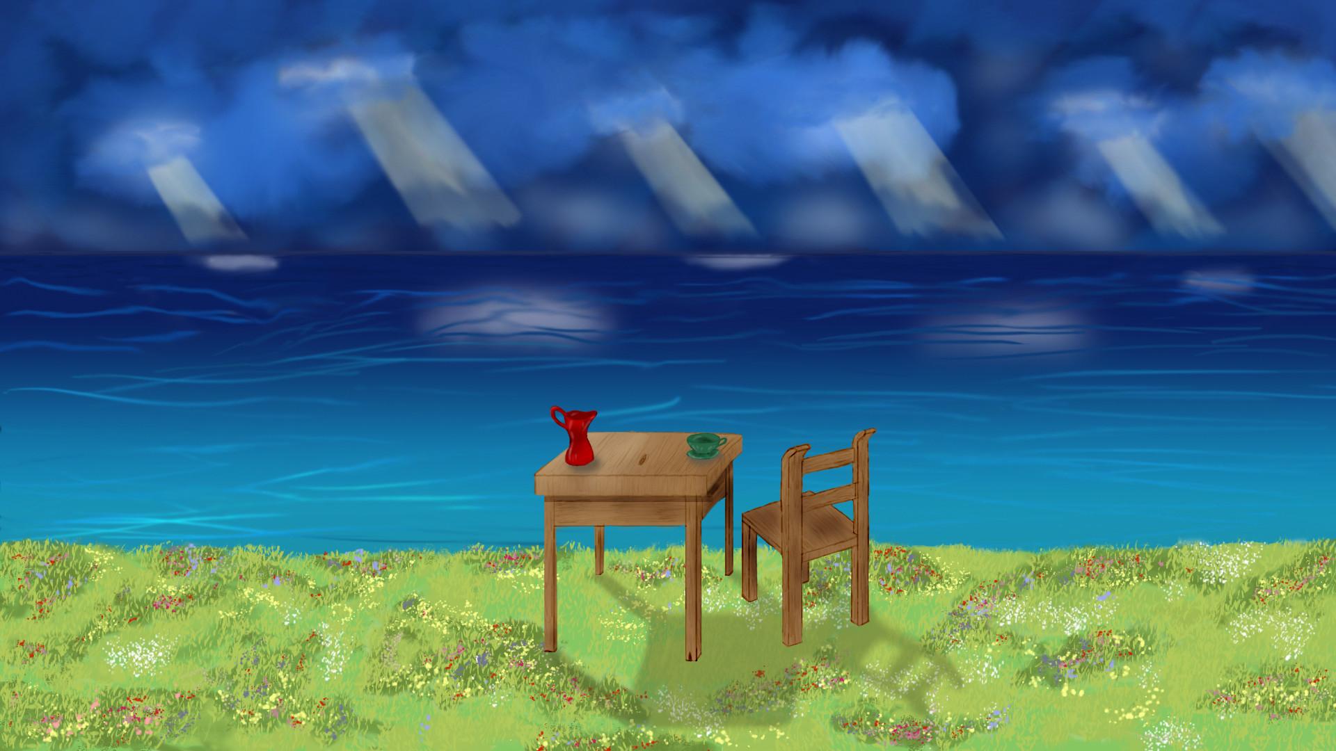 … Howl's moving castle lake scene by Tao-Seven