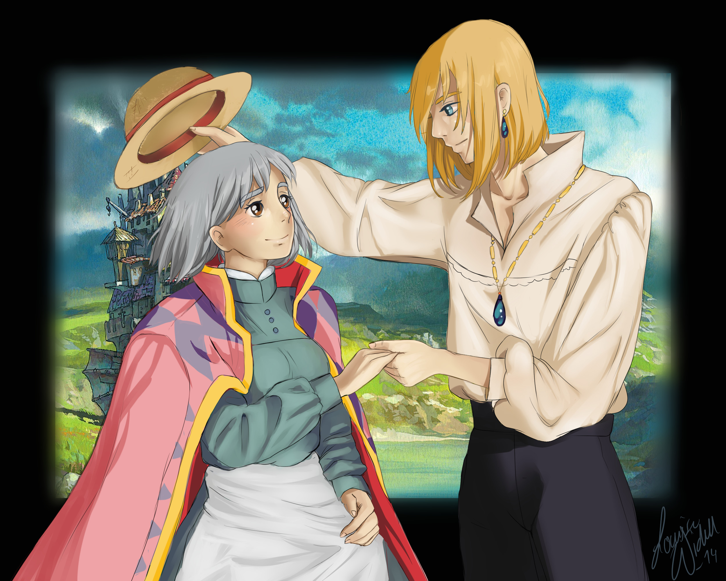 … Fanart: Sophie and Howl – Howl's moving castle by TheBananafly