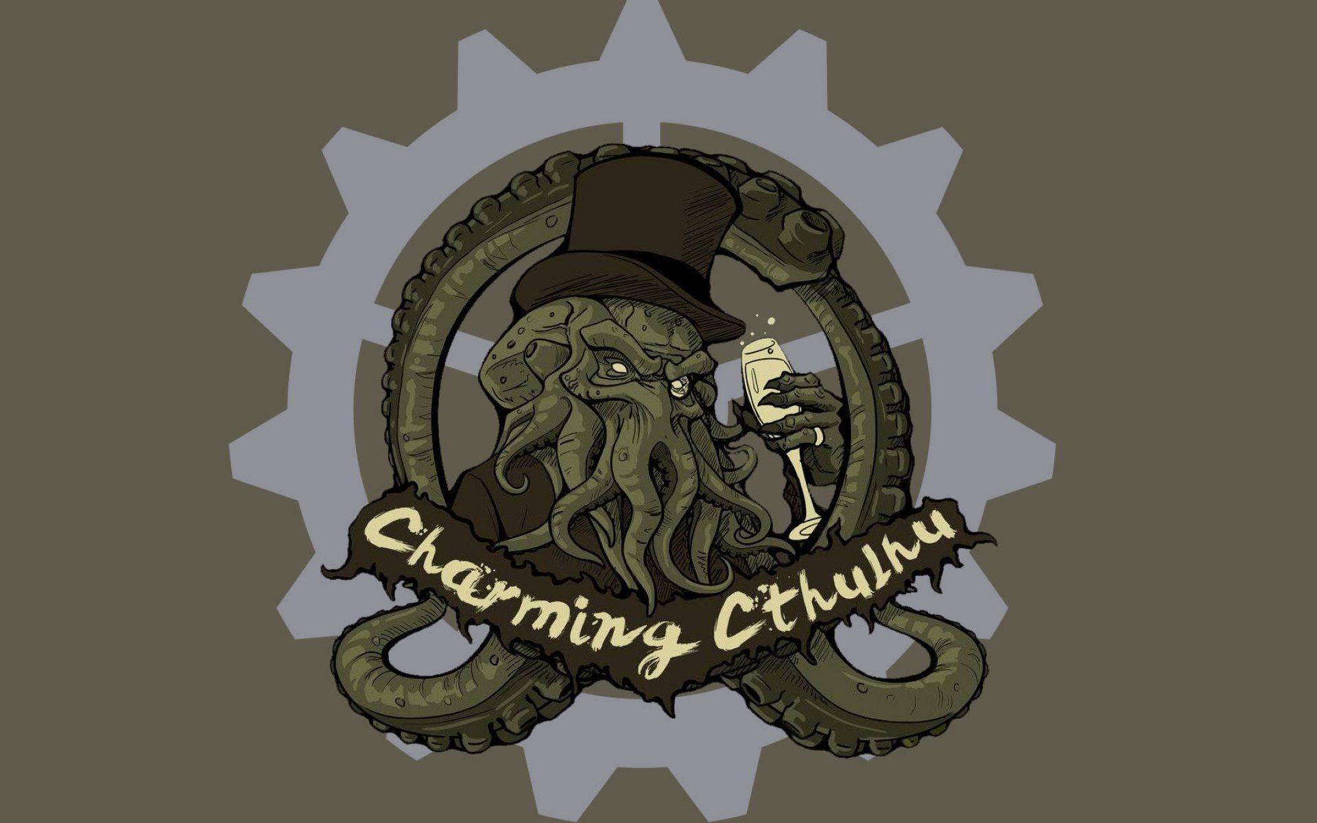 Fantasy art artwork monster creature octopus Cthulhu wallpaper .