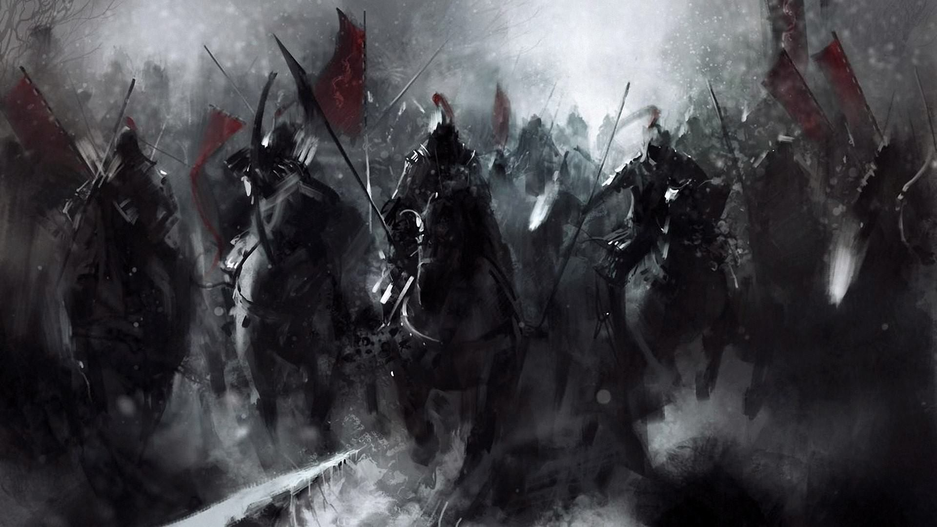Dark Fantasy Horsemen Wallpaper