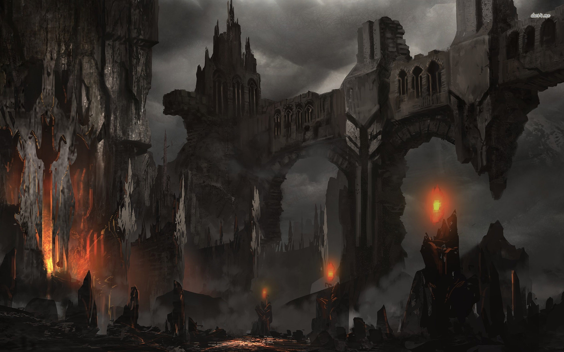 Fantasy Dark Castle Wallpaper Hd Background Wallpaper 16 HD Wallpapers