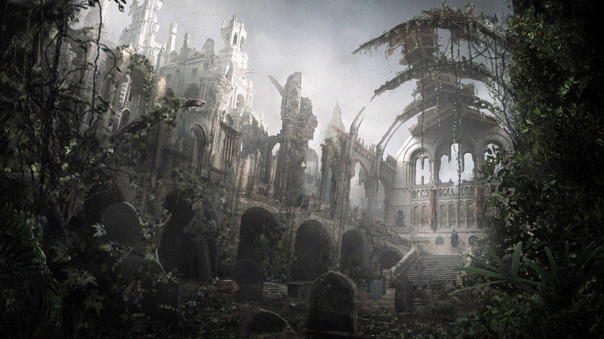 Dark Fantasy Landscape High Quality HD Wallpaper #0g9w1