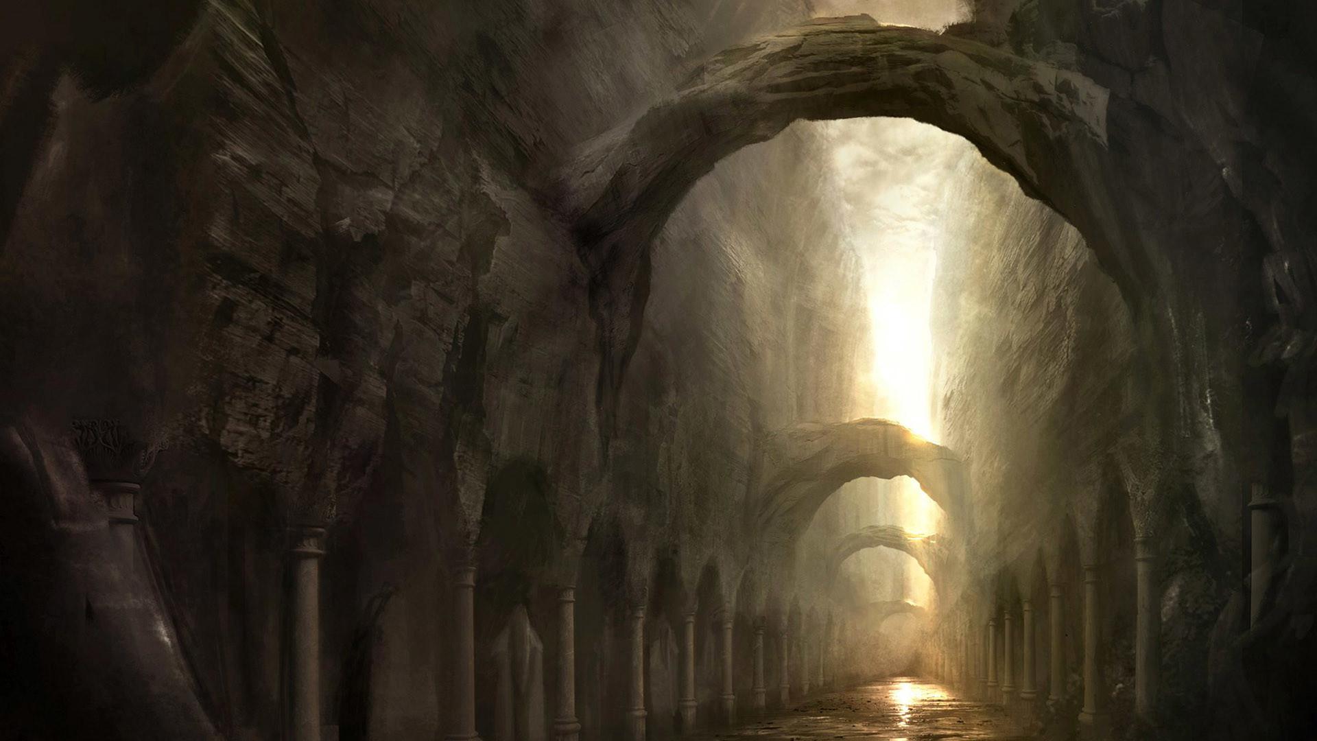 High resolution gothic / dark art desktop wallpaper of Fantasy Places HD  (ID: