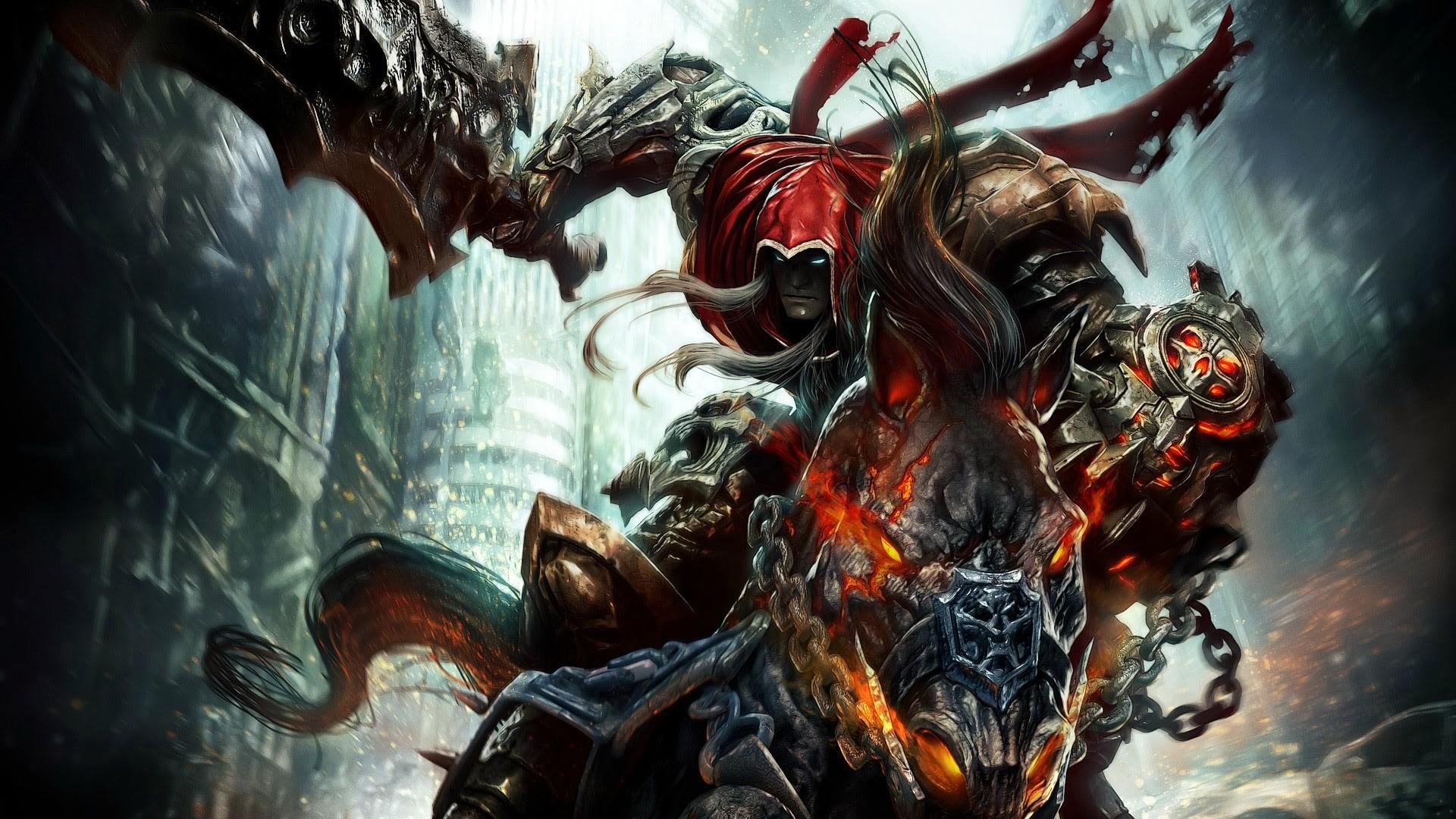 epic warrior riding flaming horse wallpaper hd fantasy weapon sword .