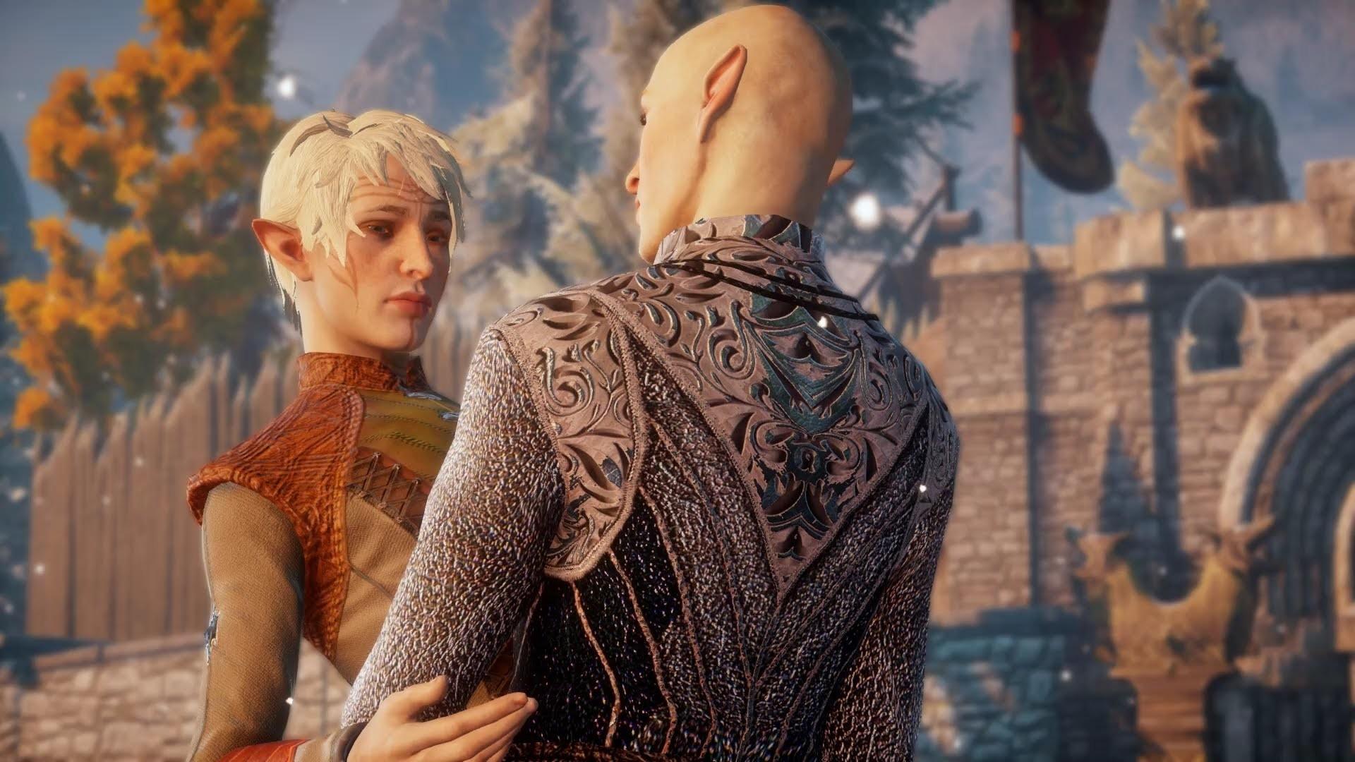 Dragon Age Inquisition Solas & Male Elf Romance First Kiss in the Fade (Bi  Solas Mod) – YouTube
