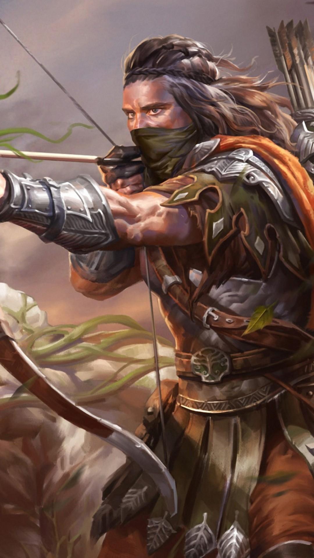Wallpaper legend of the cryptids, man, archer, art