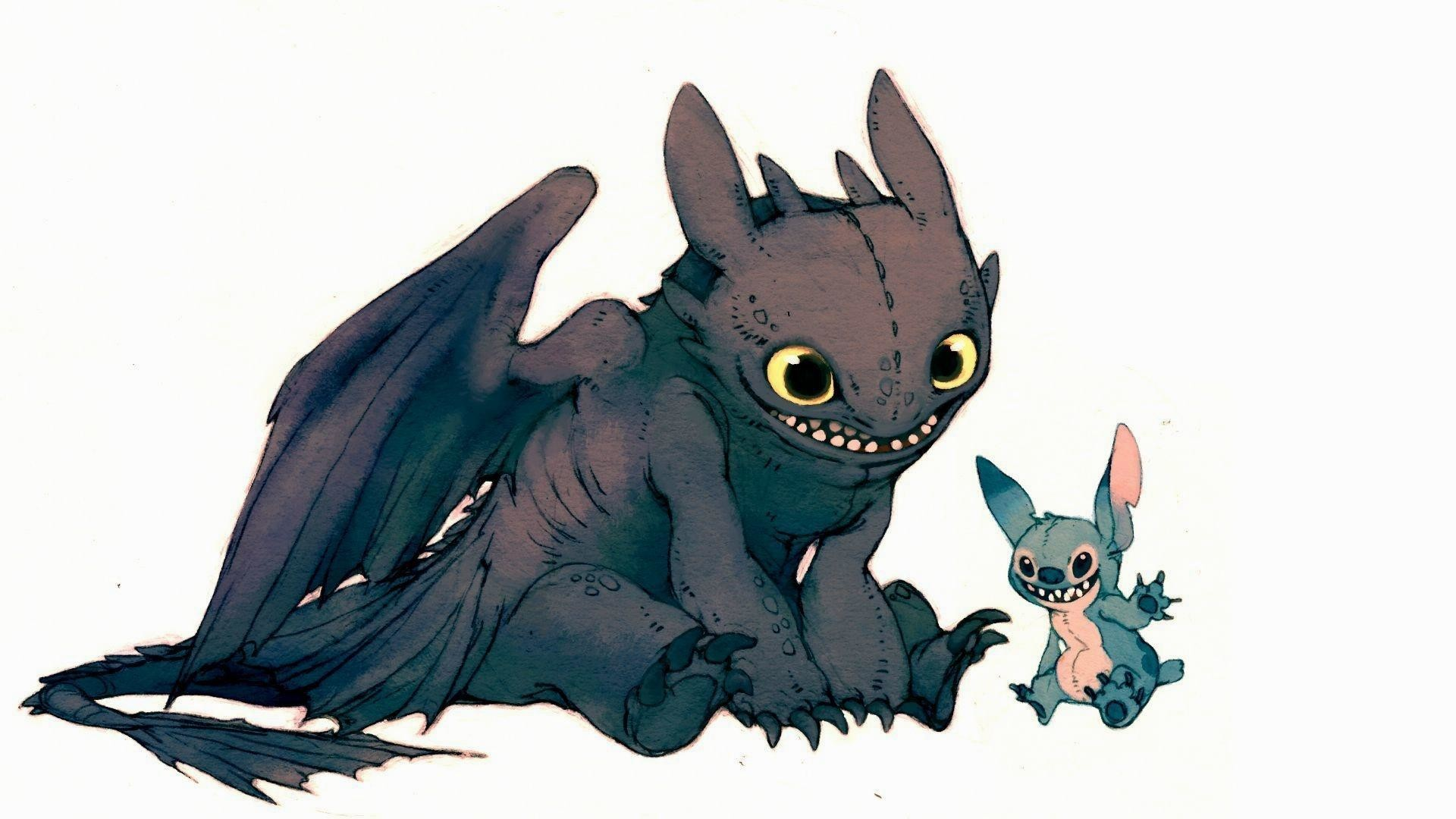 Toothless-and-stich-HD-cartoon-wallpaper