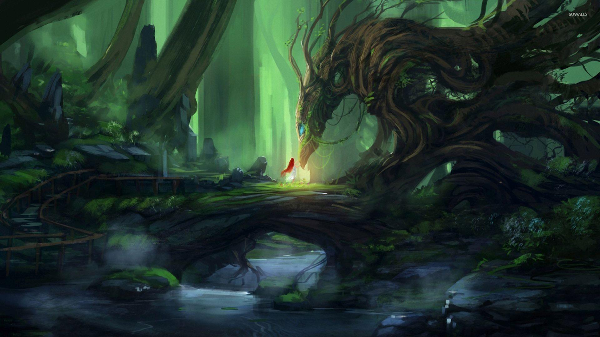 Tree dragon wallpaper