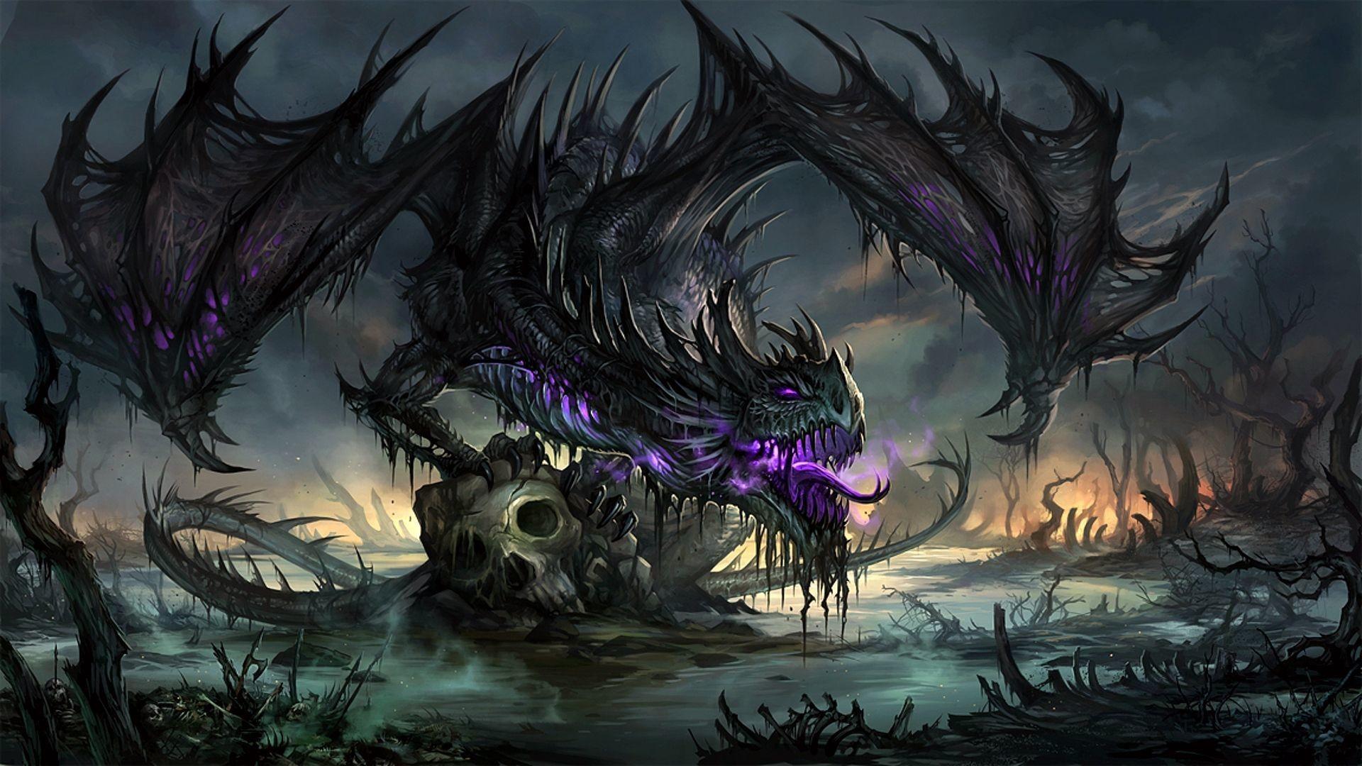 Purple dragon Wallpaper #44644