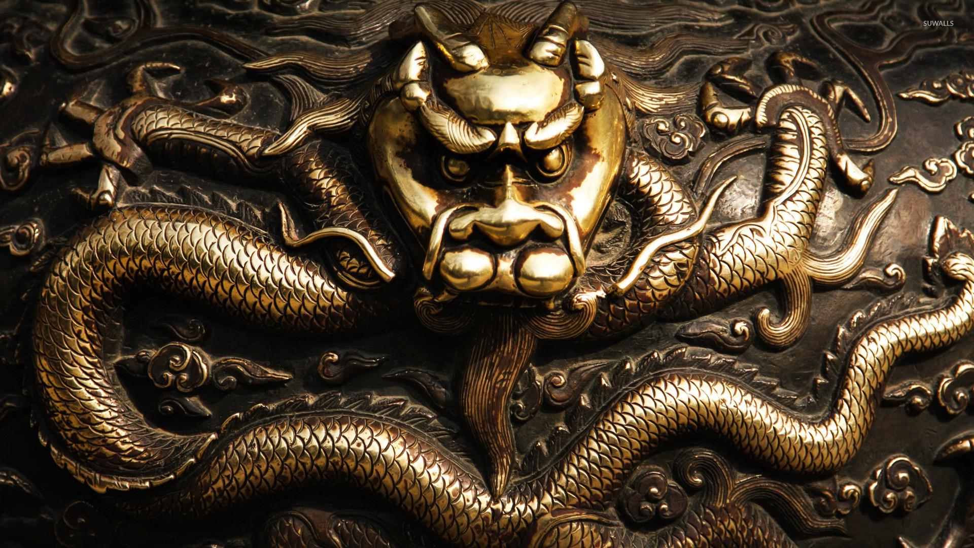 Golden dragon wallpaper jpg