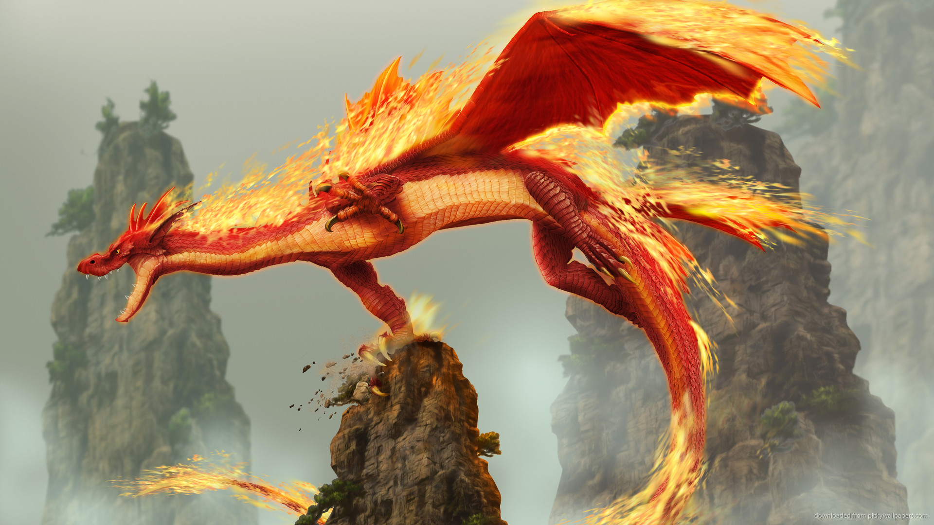 Fire Dragon for 1920×1080