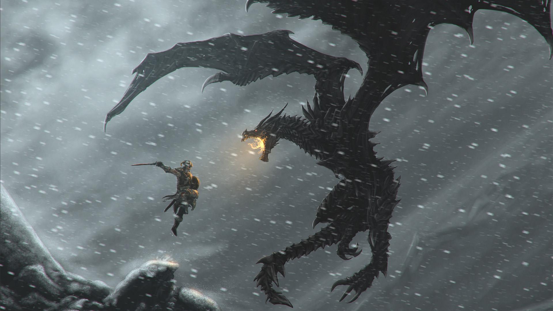 <b>Skyrim Dragon</b> HD <b>Wallpaper</