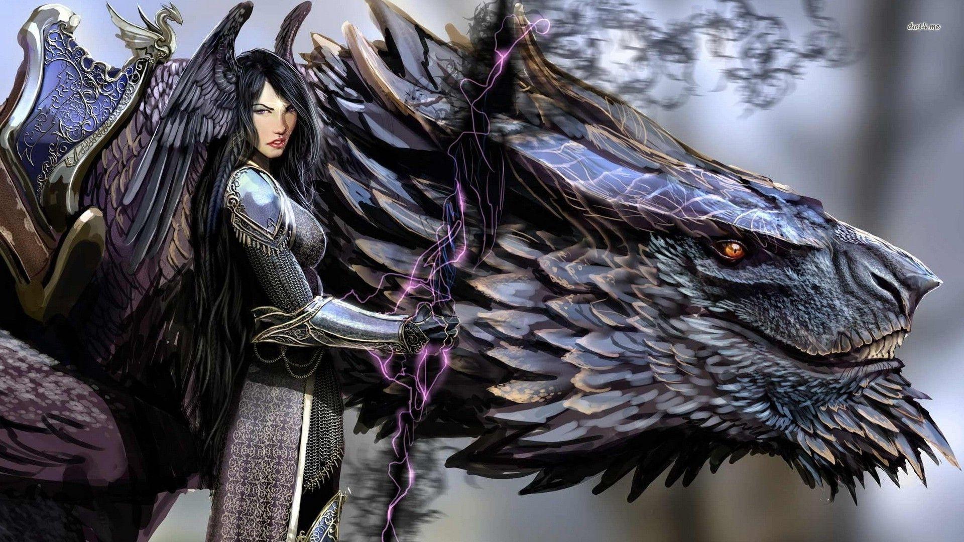 Fantasy – Drachen Wallpaper
