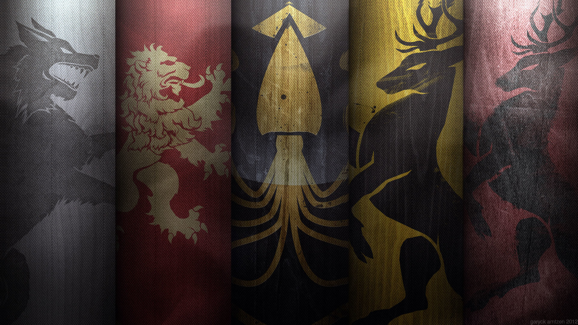 Game of Thrones House Flags wallpaper