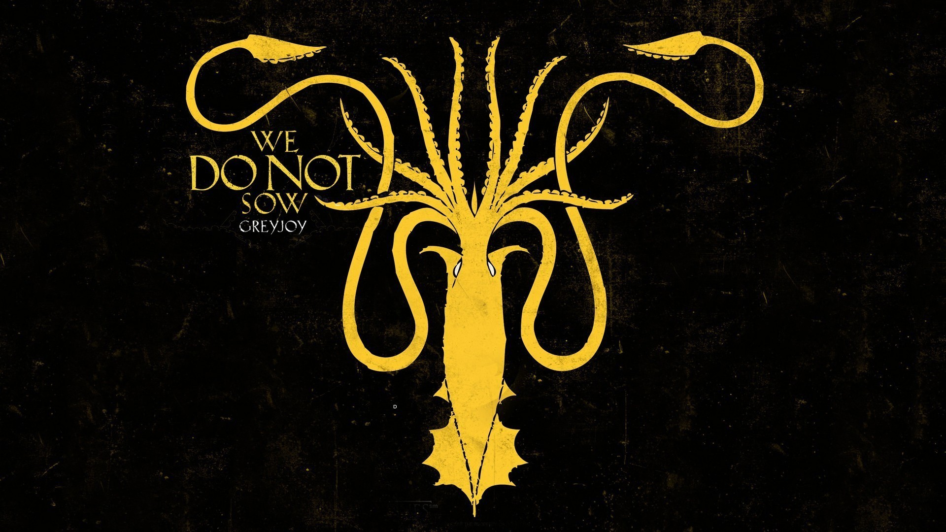 Game of thrones house greyjoy squid