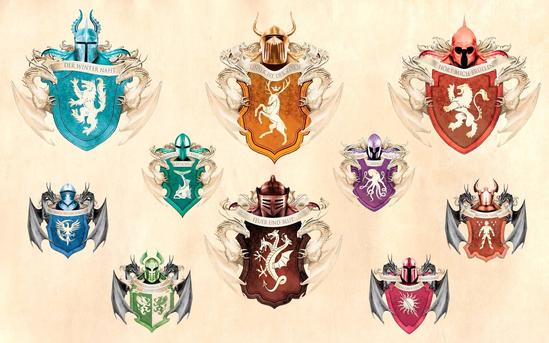 A Song Of Ice And Fire Game Thrones House Stark Targaryen Tully Westeros …
