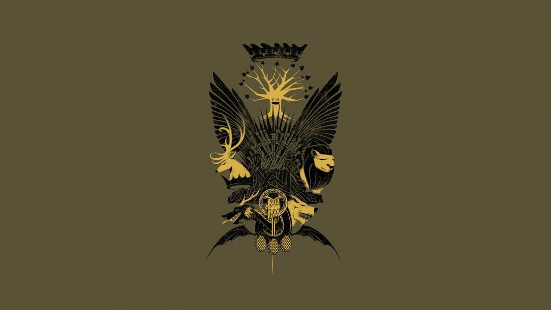 Houses game of thrones house lannister stark seal wallpaper | (49250)