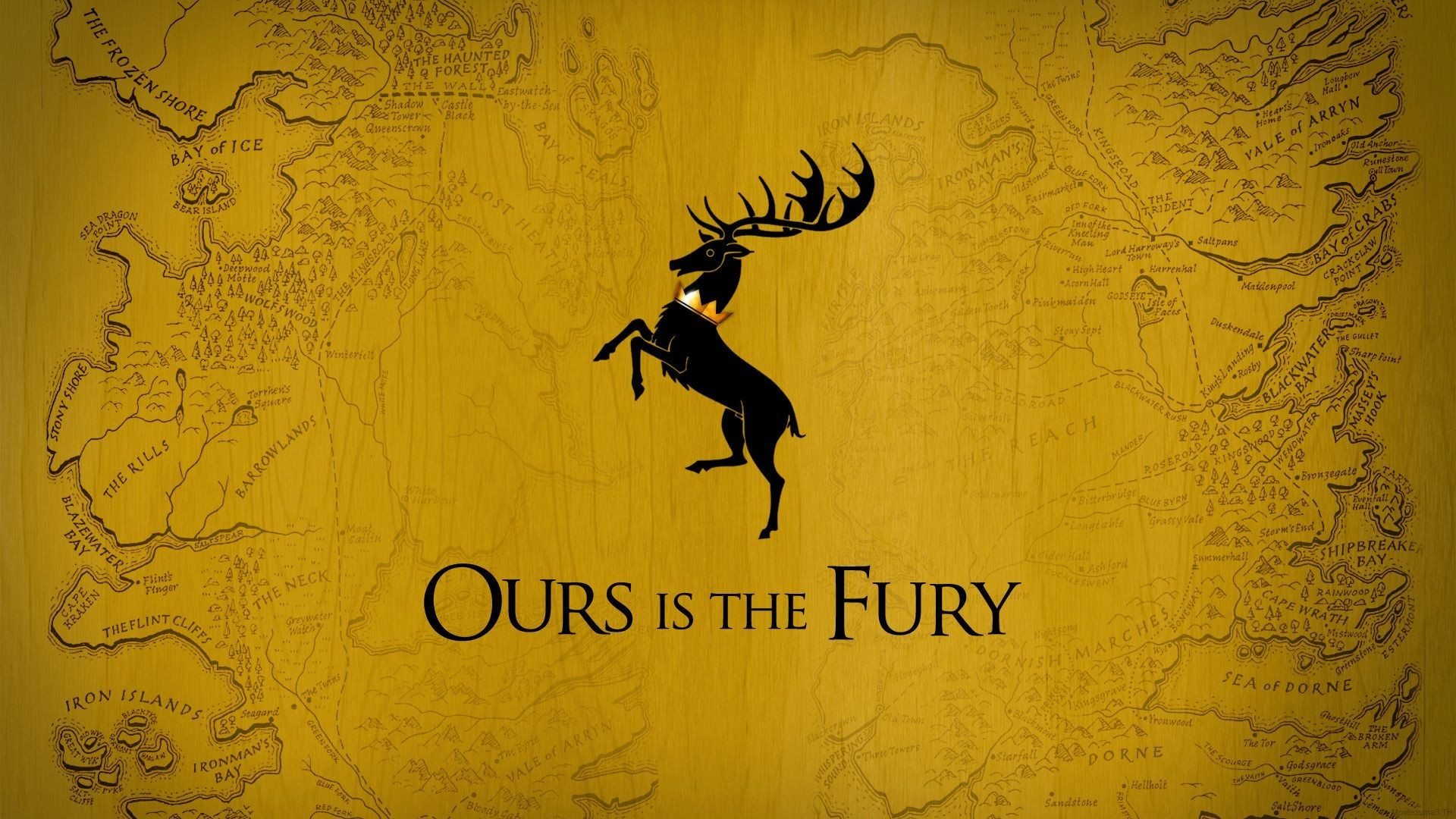 Game Of Thrones, Stags, House Baratheon, Map, Sigils Wallpaper HD