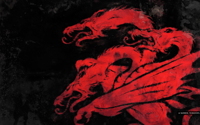Red Dragon Targaryen Sigil Game Of Thrones