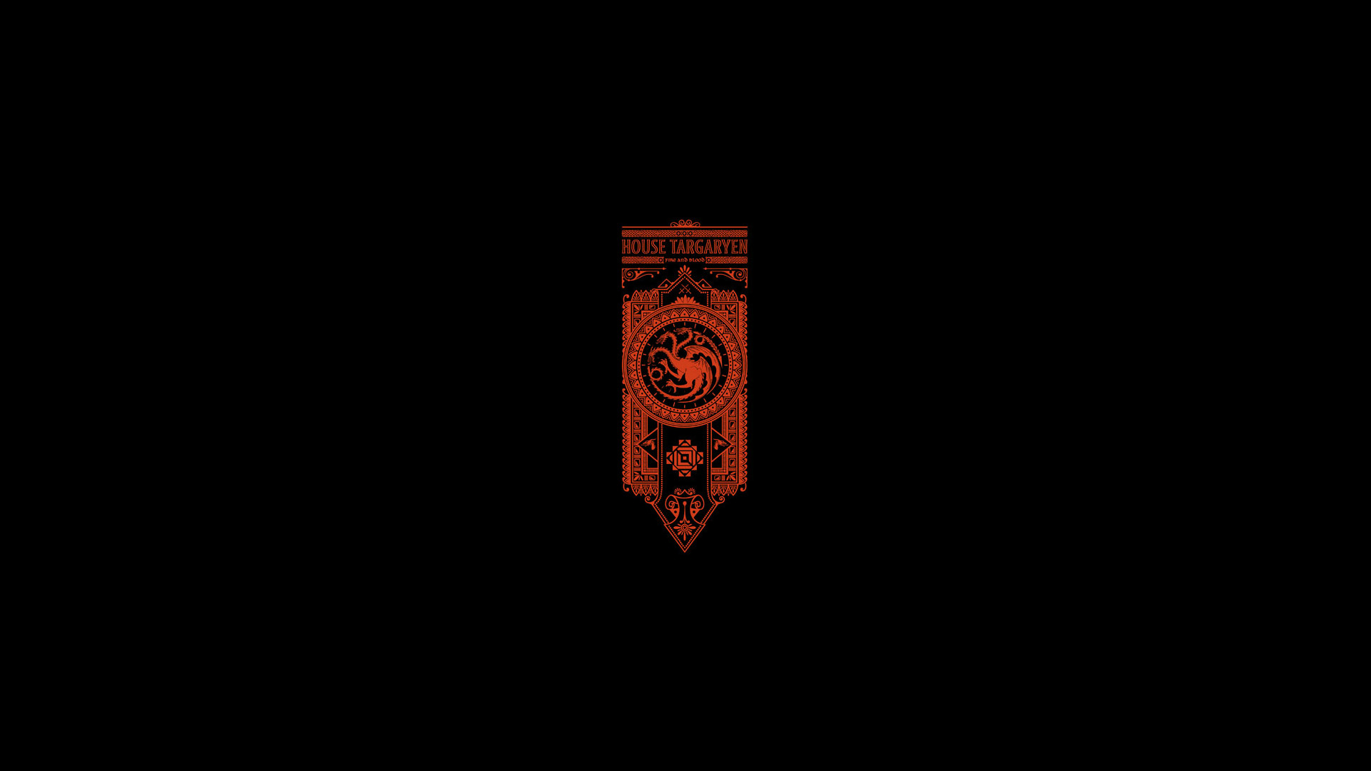 Game of Thrones Song of Ice and Fire Targaryen Minimal Black wallpaper |  | 100591 | WallpaperUP