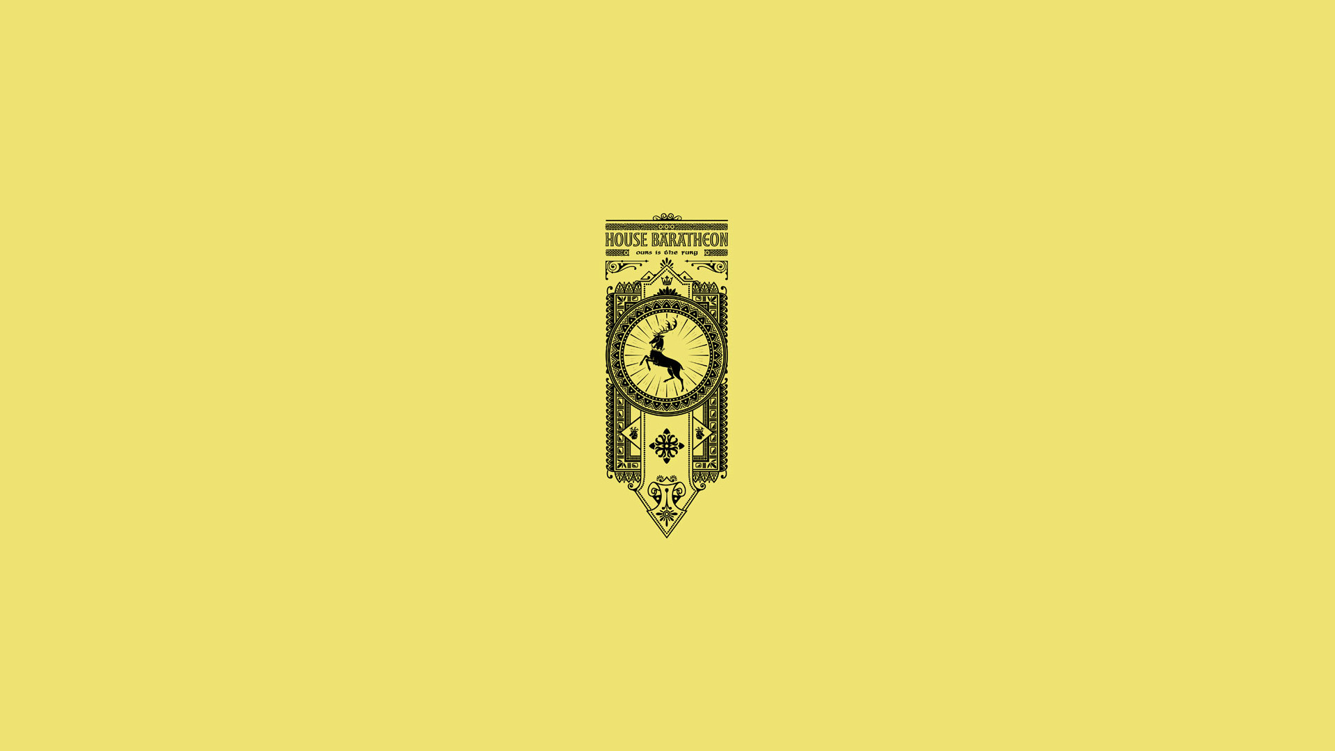 House Baratheon, Ours is the fury, sigil, banner Game of Thrones banners  wallpapers · House Targaryen …