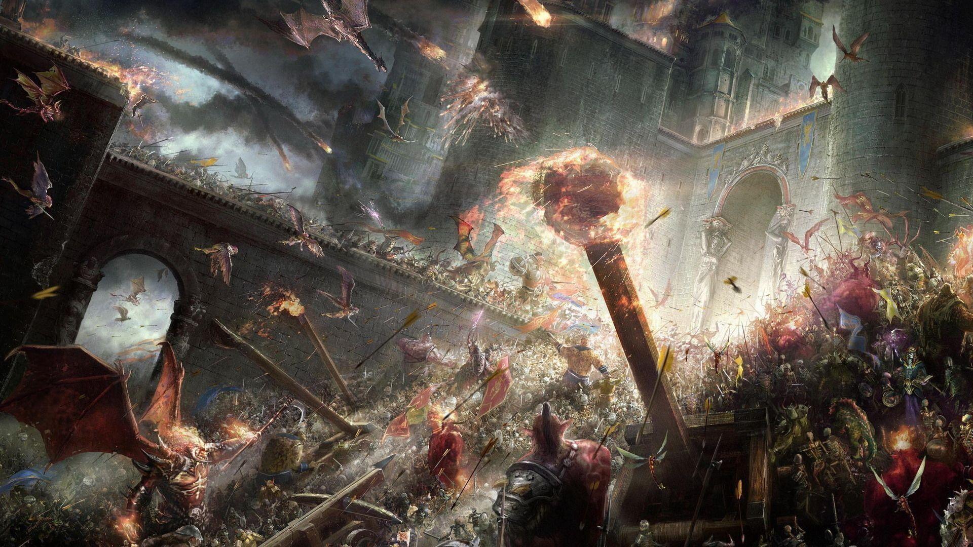 epic fantasy battle Wallpaper   HD Wallpapers