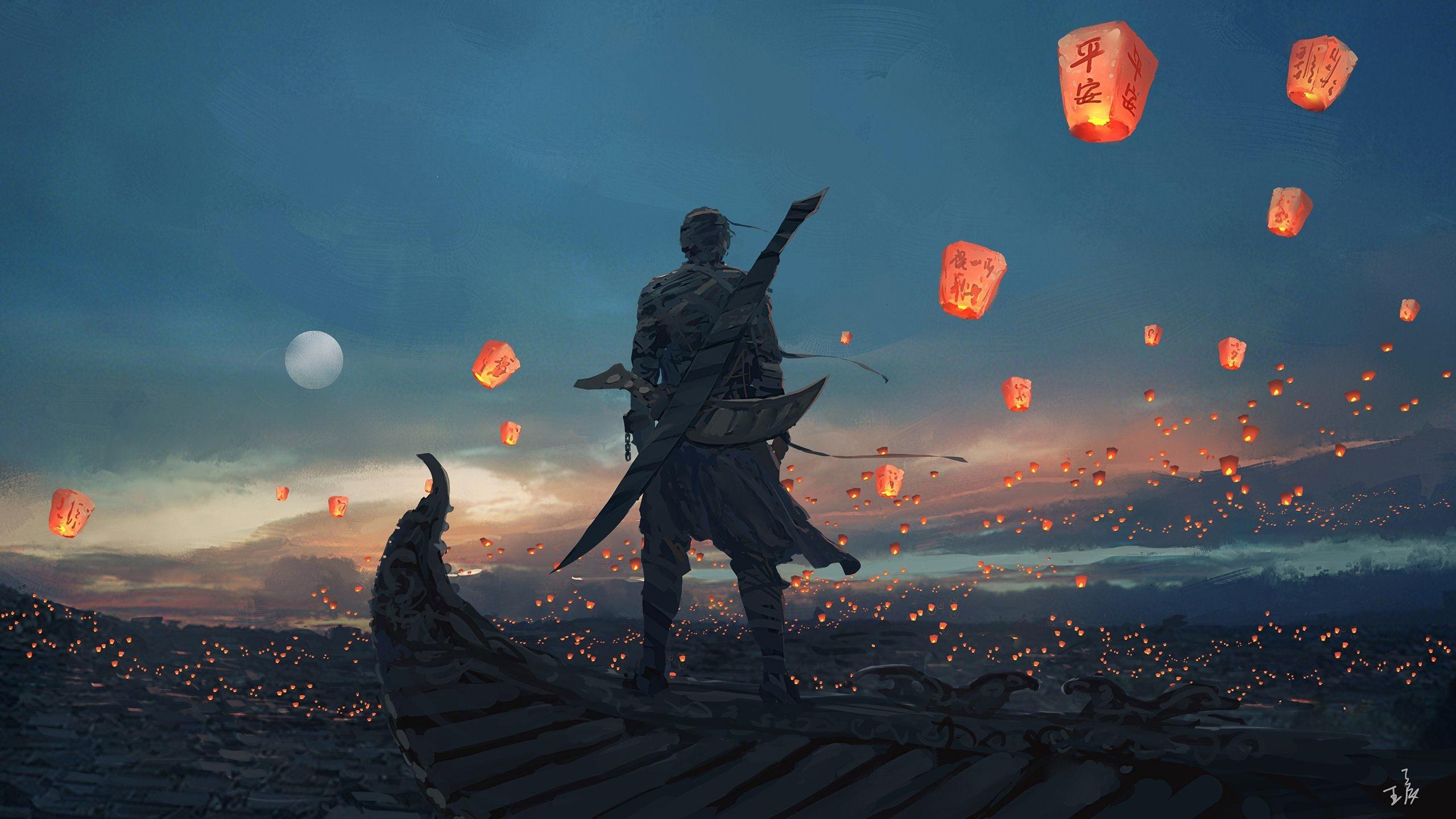 Sky Lanterns Art Wallpaper for desktop & mobile in high resolution free  download. We have