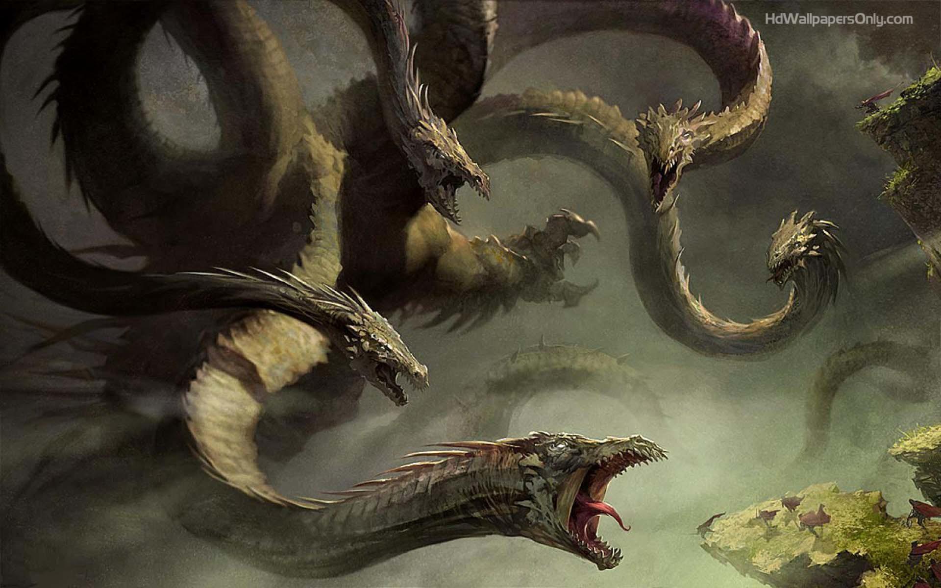 Dragon 5 Head Wallpapers HD.