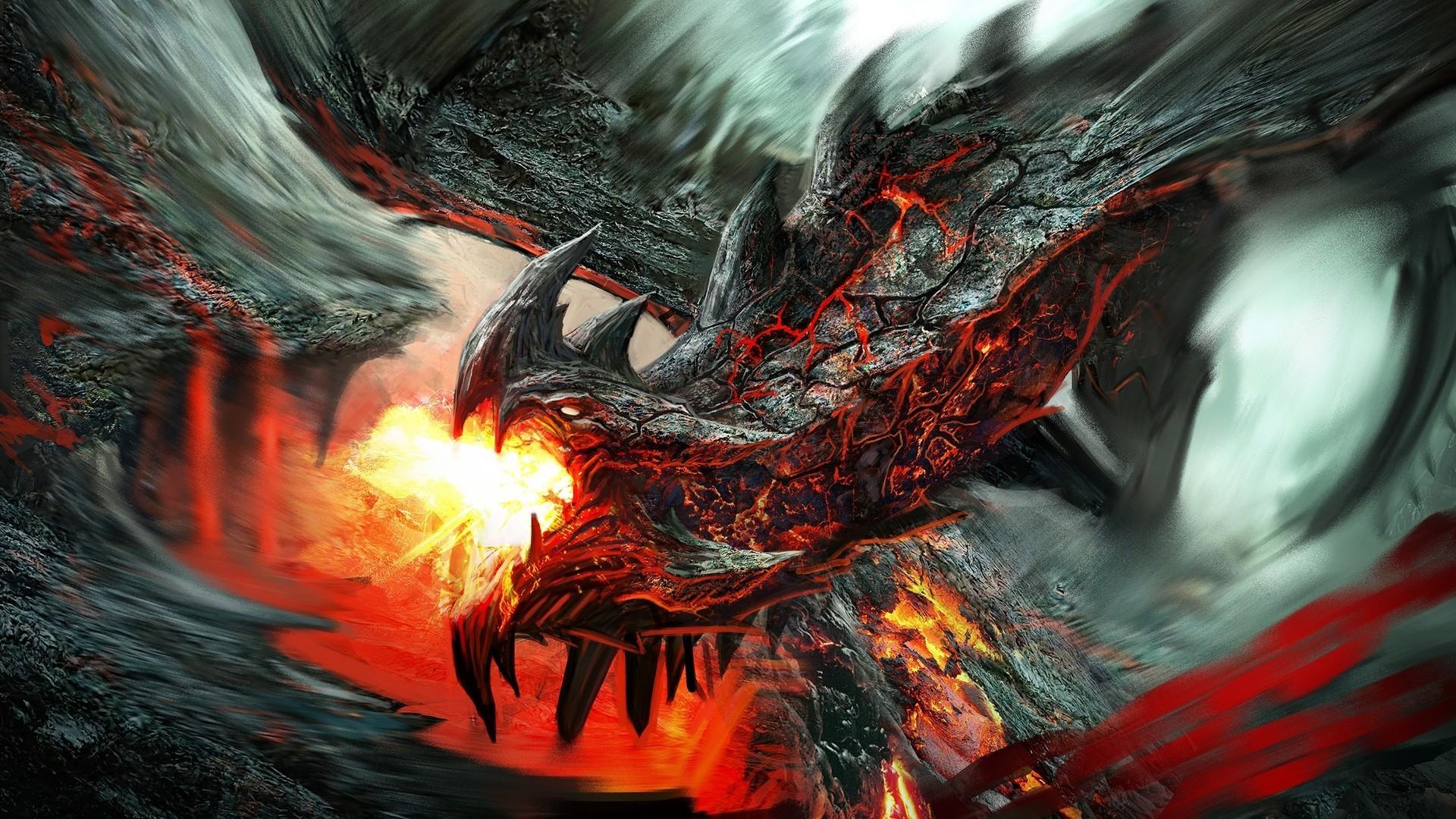 Fire Lava Dragon Wallpapers Fantasy Desktop.