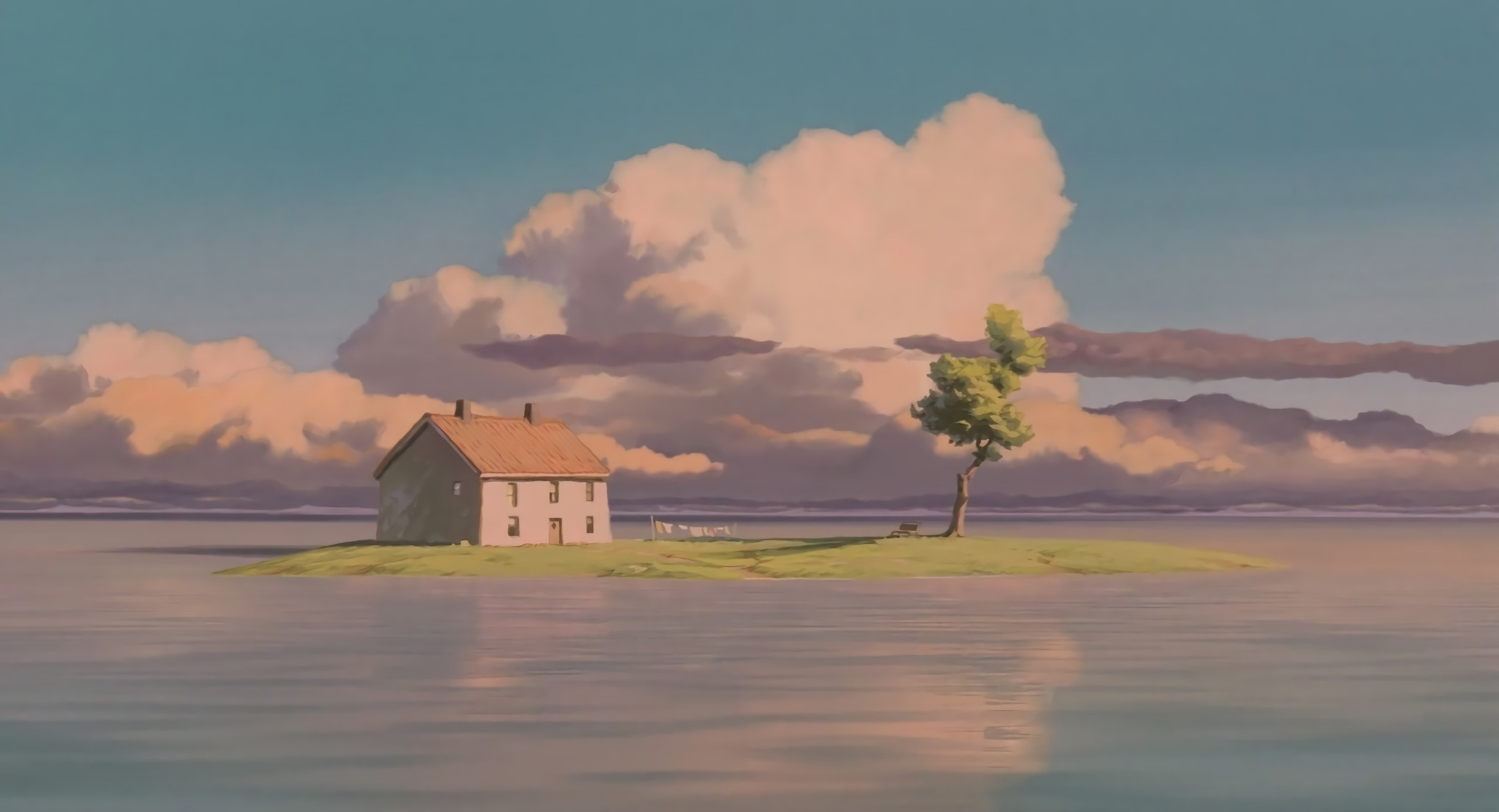 Some HD wallpapers from Spirited Away's train scene. Pure serenity. : anime