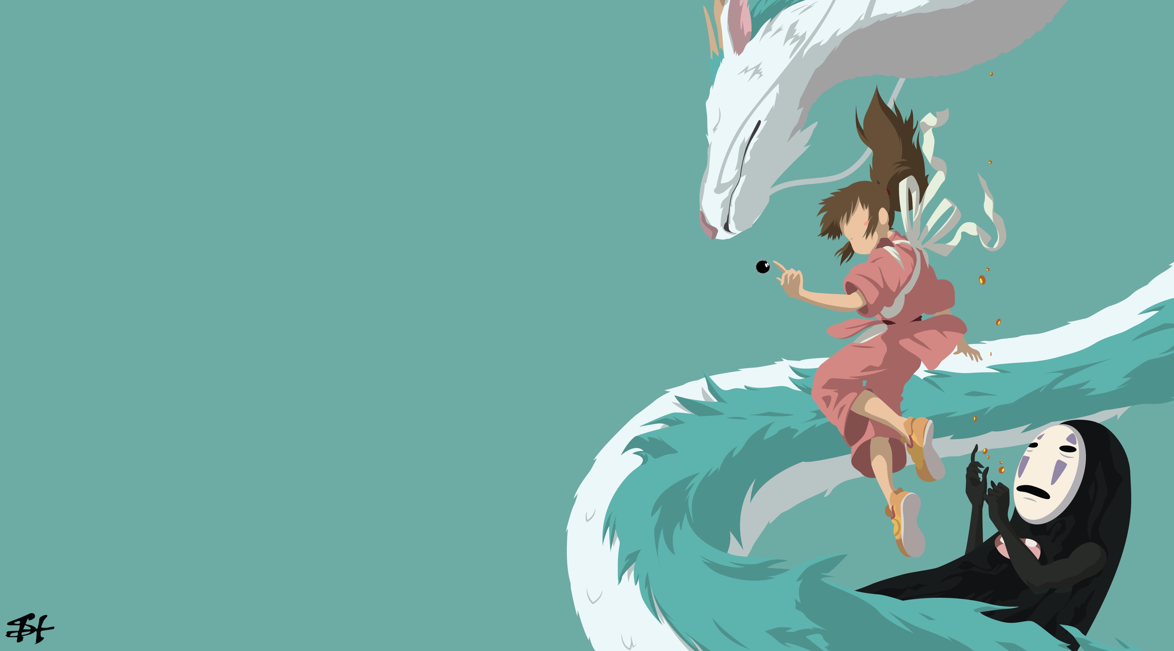 Anime Spirited Away Chihiro minimalism