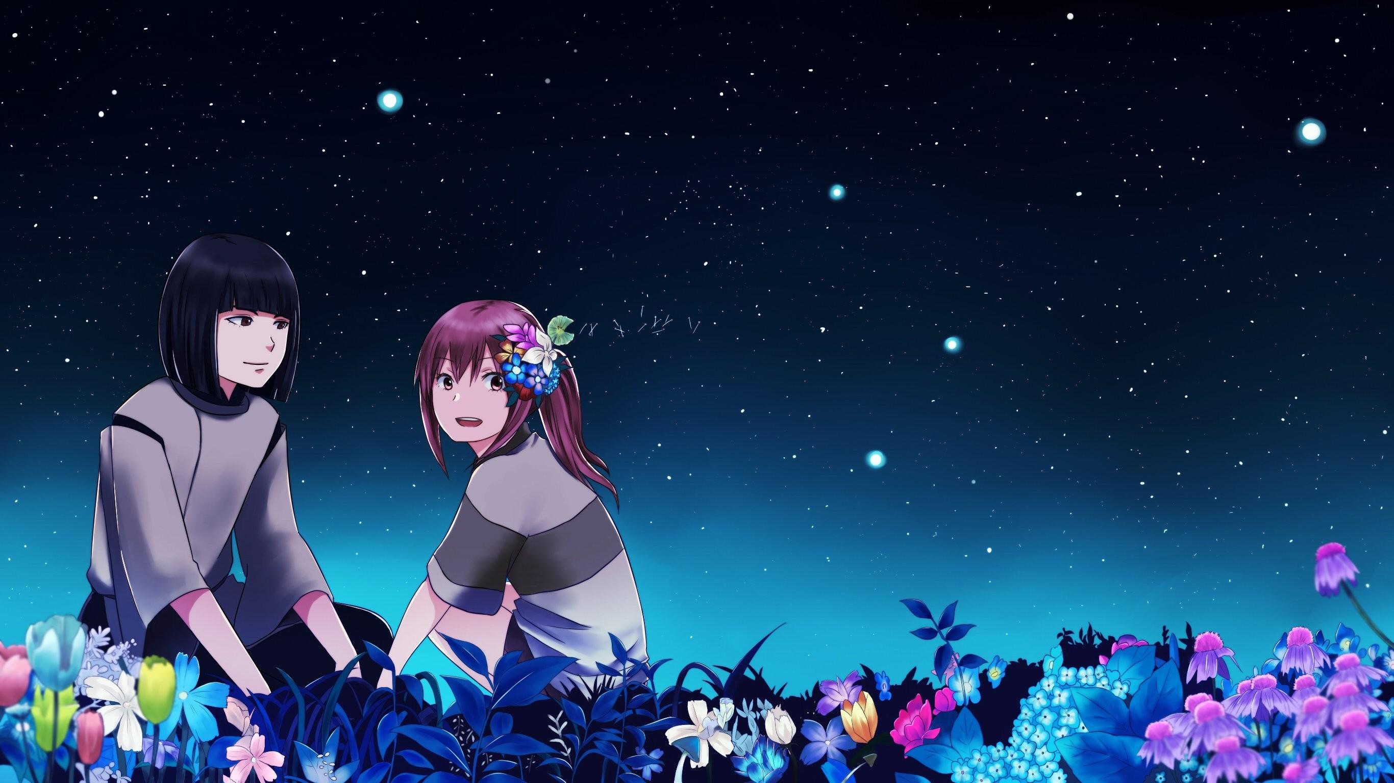 Flowers haku night ogino chihiro spirited away stars wallpaper |  | 508711 | WallpaperUP