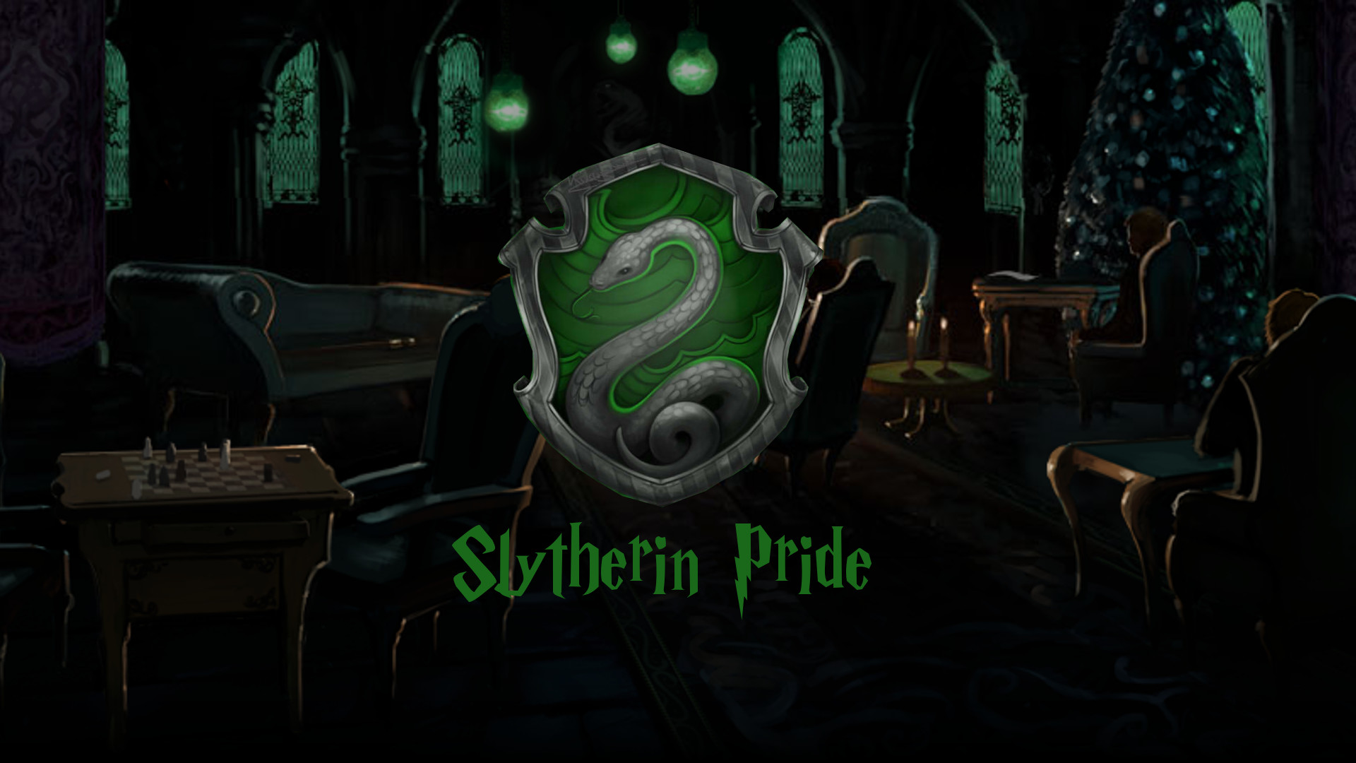 Slytherin common room wallpaper by Thalvunil Slytherin common room wallpaper  by Thalvunil