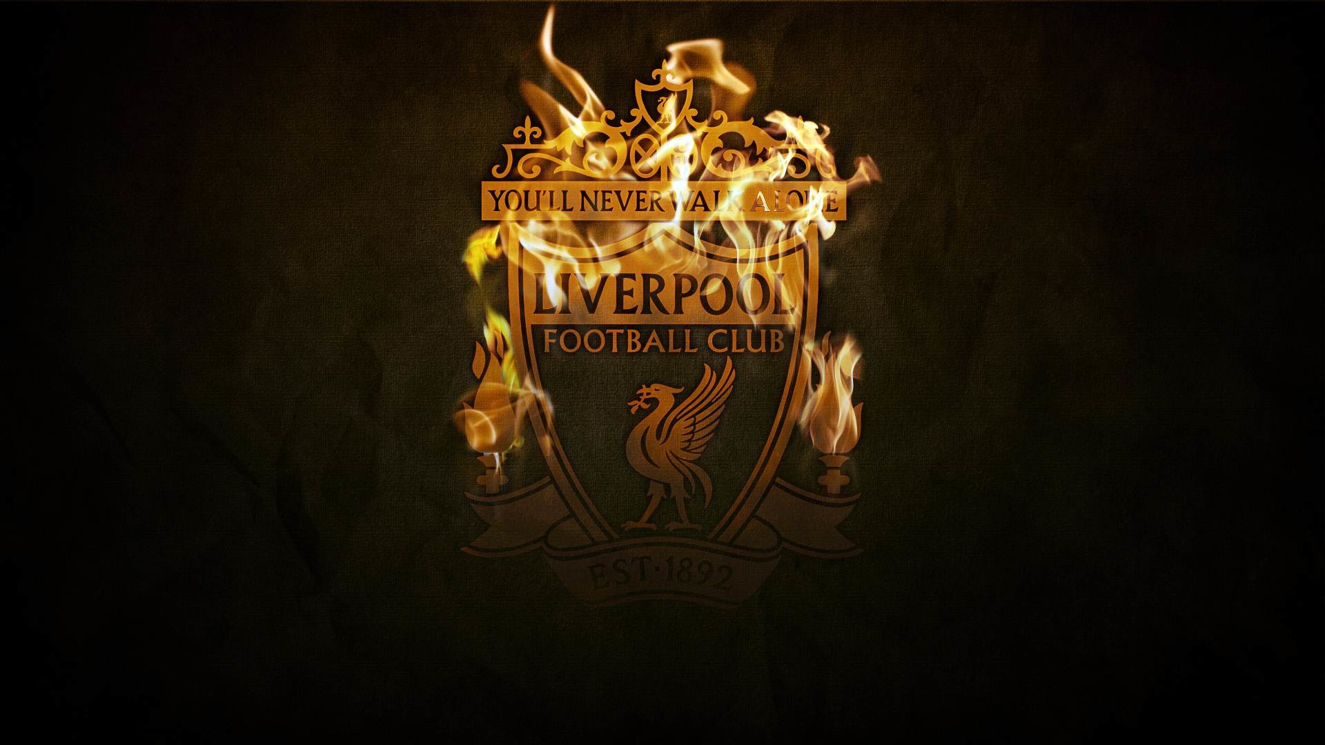 Liverpool Logo Badge Emblem Black and Fire