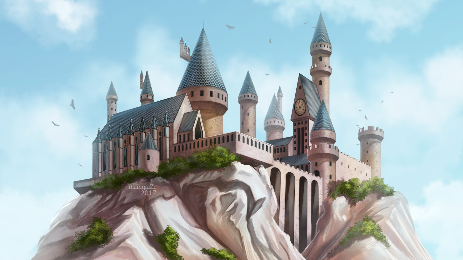 Hogwarts wallpaper by maryquiZe Hogwarts wallpaper by maryquiZe