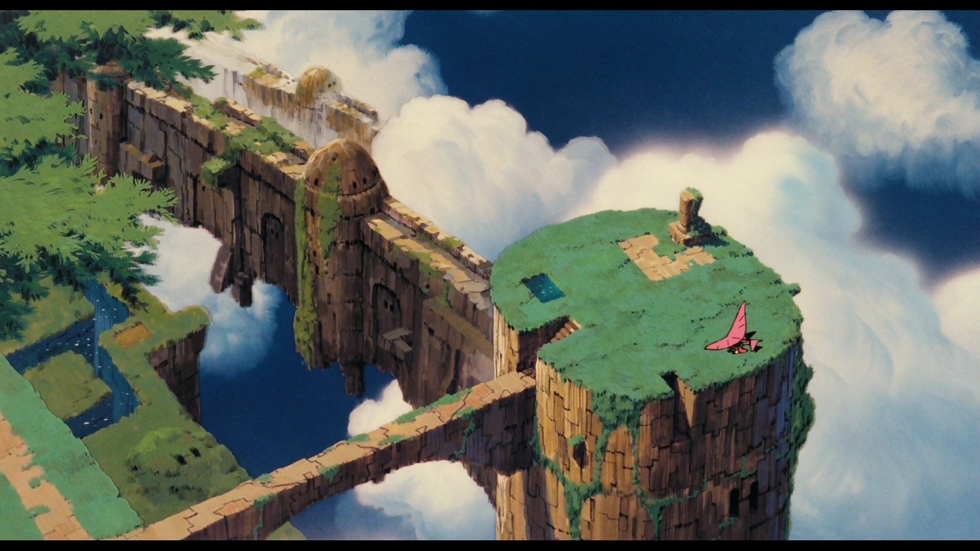computer wallpaper for laputa castle in the sky