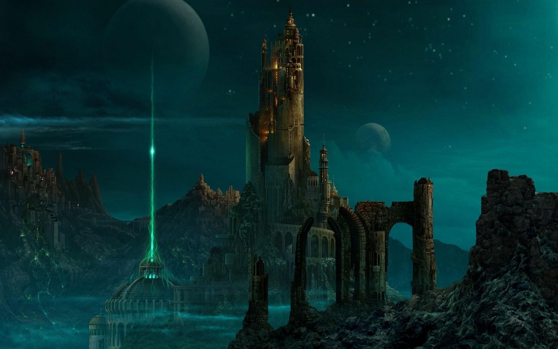 Night Sky Over Castle …