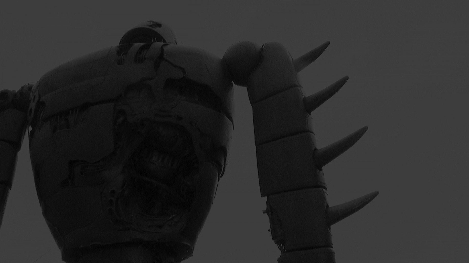 Studio Ghibli Castle In The Sky Robots Monochrome …
