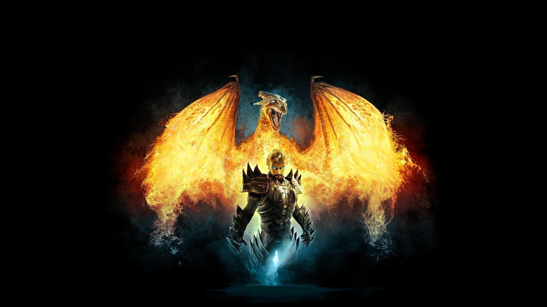Fire Dragon   Dragon on Fire Wallpaper   HD   Wallpapers
