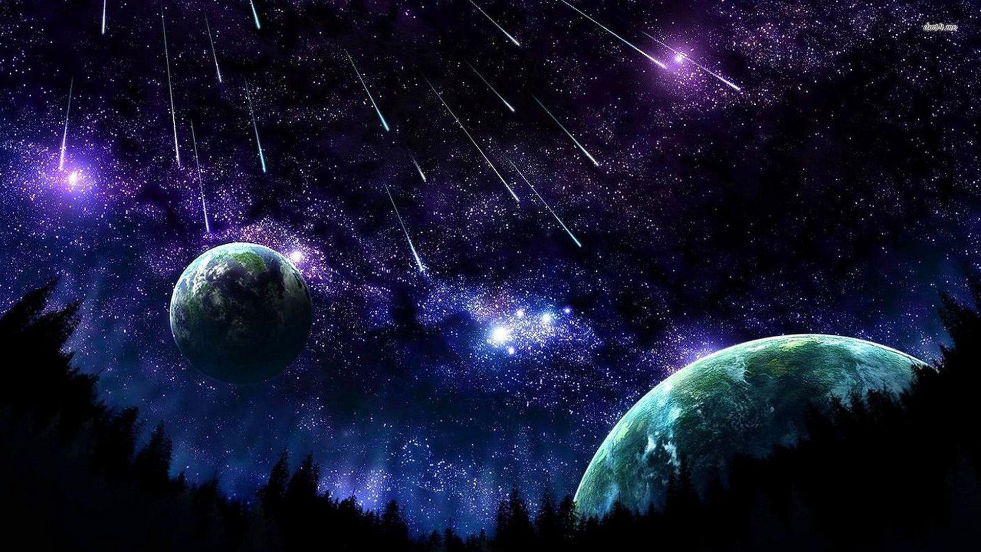 Beatuiful night sky wallpaper .