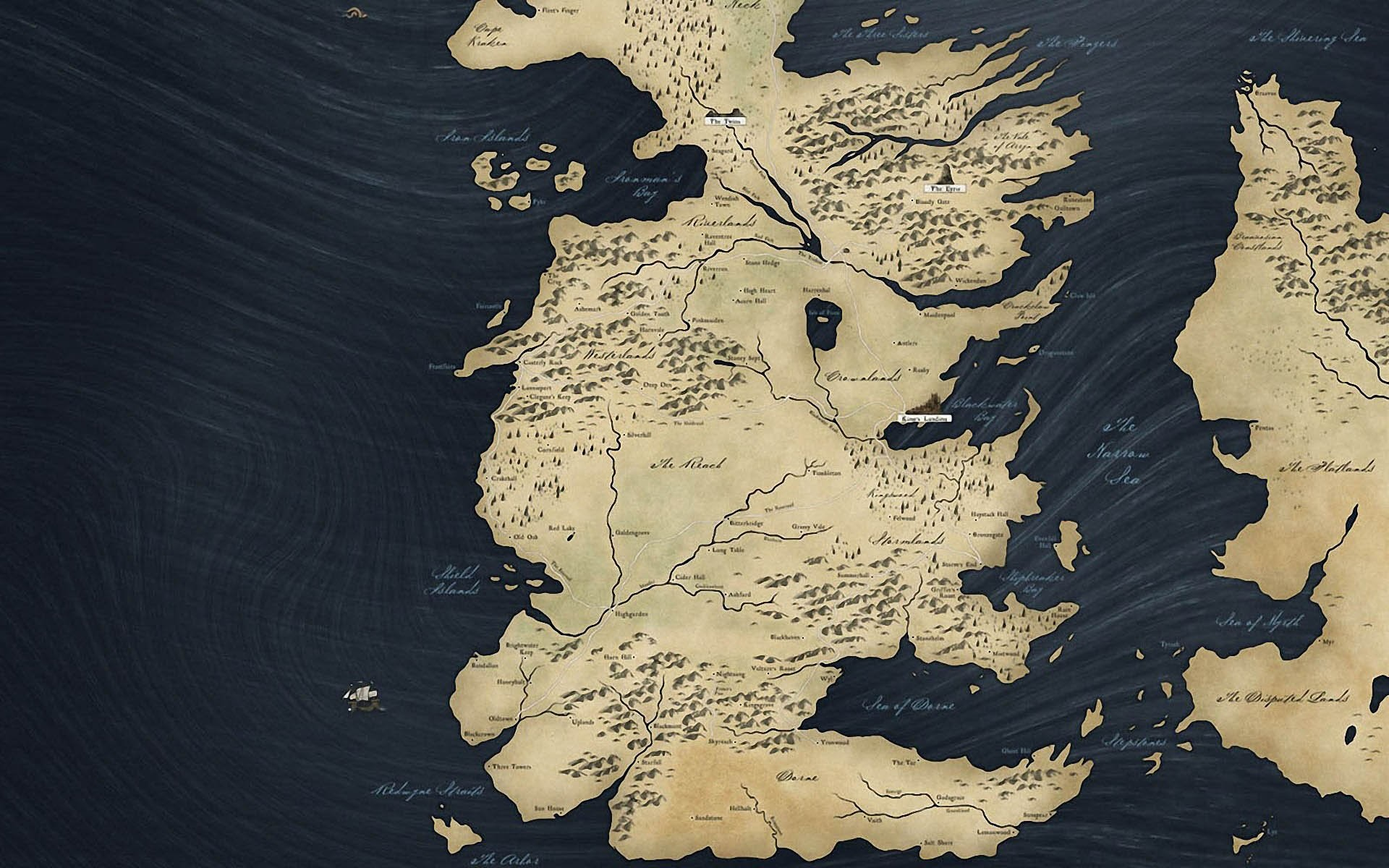 Map Of Game Thrones …