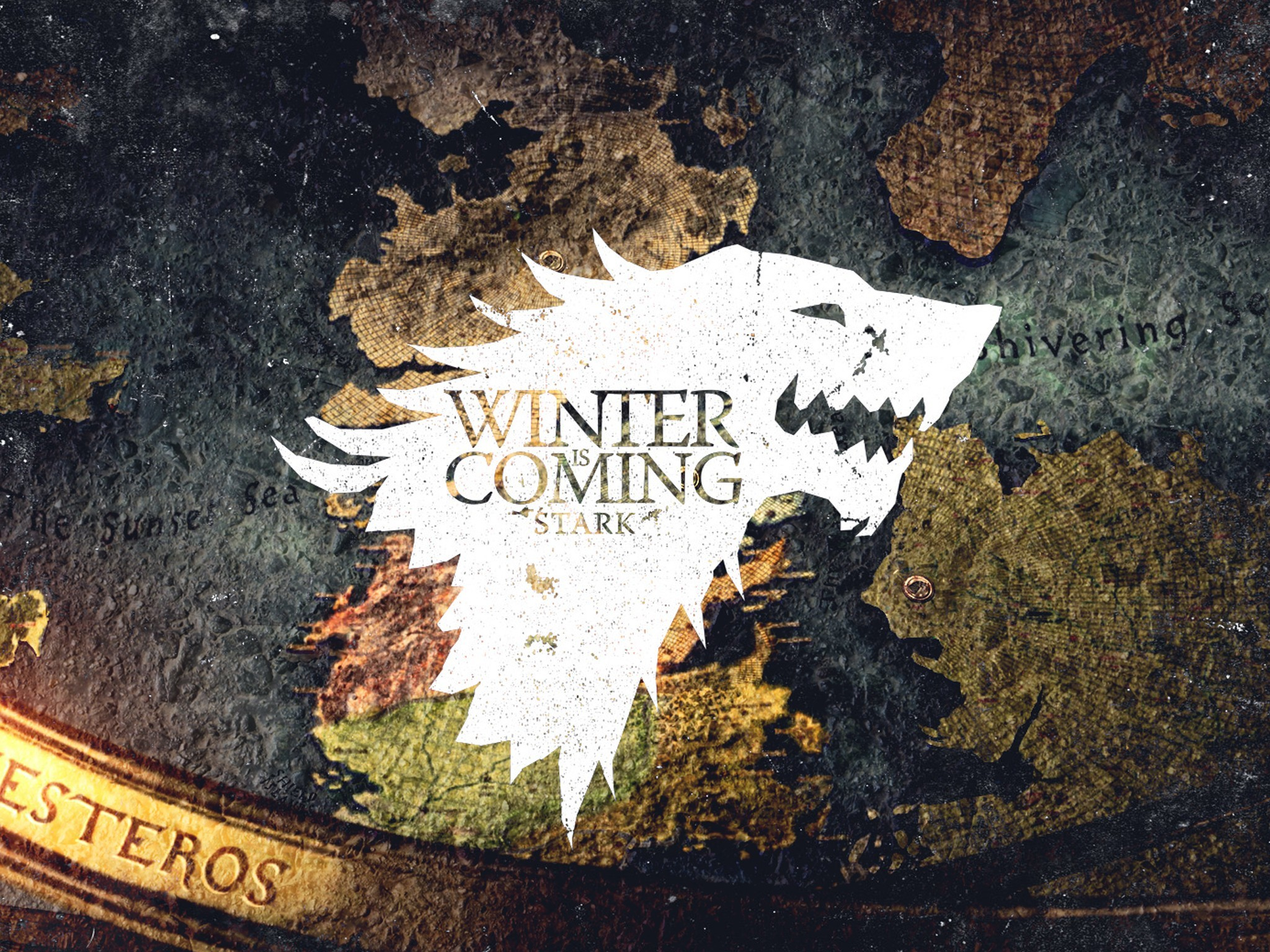 TV, movies, Game of Thrones, Winter is Coming, map, wallpaper