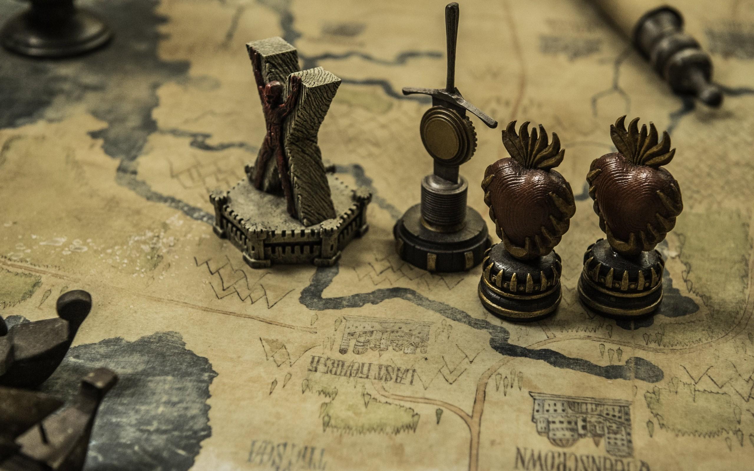 Game Of Thrones, Map, Desk, Tv Series
