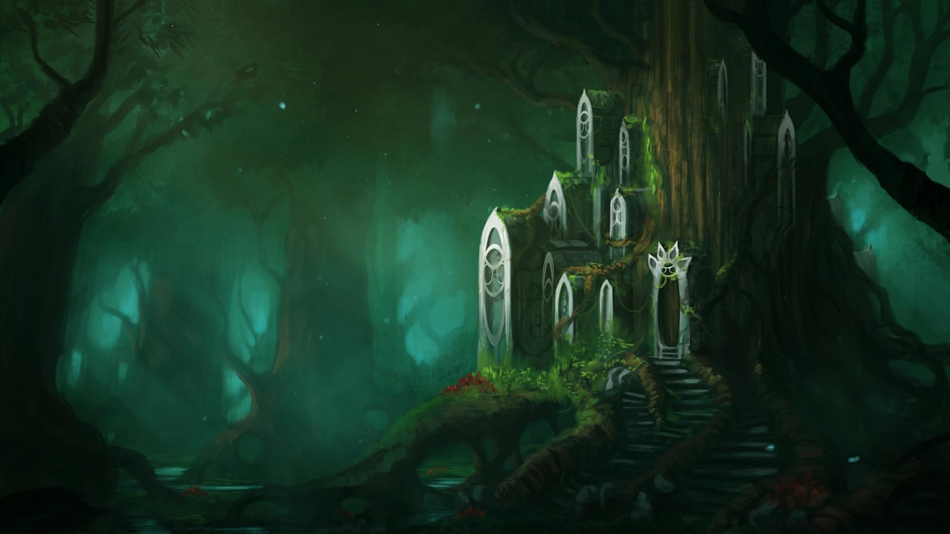 Fantasy Forest Wallpaper Download 13126 Full HD Wallpaper Desktop .