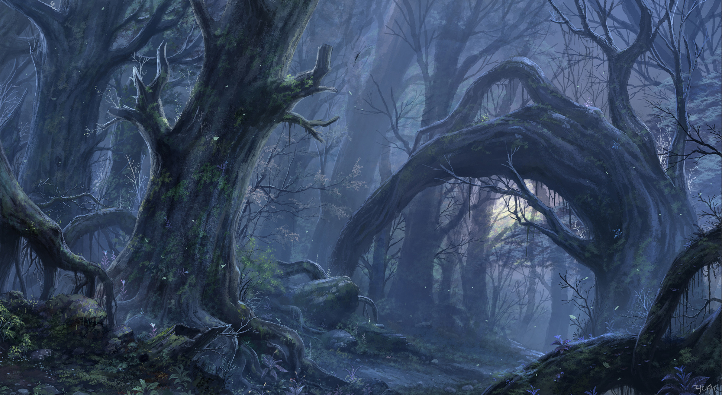 HD Wallpaper   Background ID:220544. Fantasy Forest
